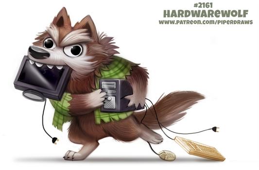 Daily Paint 2161. Hardwarewolf