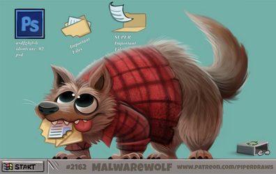 Daily Paint 2162. Malwarewolf
