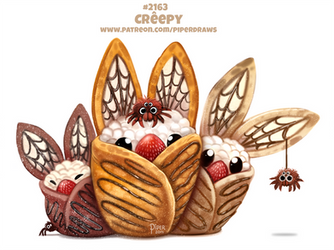 Daily Paint 2163. Creepy by Cryptid-Creations