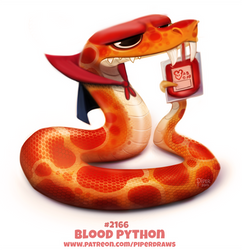 Daily Paint 2166. Blood Python by Cryptid-Creations