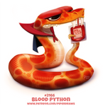 Daily Paint 2166. Blood Python