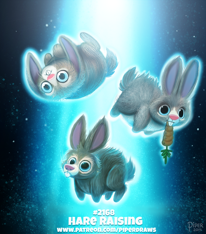 Daily Paint 2168. Hare Raising by Cryptid-Creations
