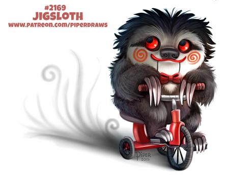 Daily Paint 2169. Jigsloth