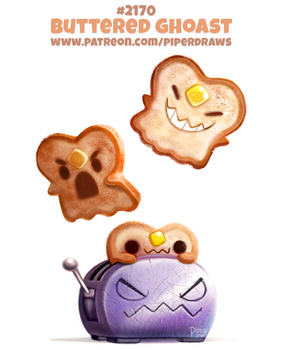 Daily Paint 2170. Buttered Ghoast