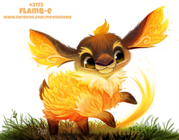 Daily Paint 2172. Flamb-e