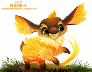 Daily Paint 2172. Flamb-e