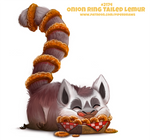 Daily Paint 2174. Onion Ring-tailed Lemur