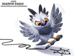 Daily Paint 2175. Sharpie Eagle
