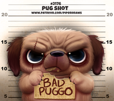 Daily Paint 2176. Pug Shot by Cryptid-Creations