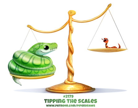 Daily Paint 2179. Tipping the Scales