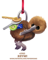 Daily Paint 2182. Keywi by Cryptid-Creations