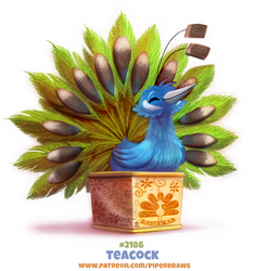 Daily Paint 2186. Teacock by Cryptid-Creations