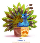 Daily Paint 2186. Teacock