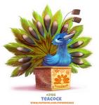 Daily Paint 2186. Teacock