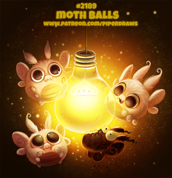 Daily Paint 2189. Moth Balls by Cryptid-Creations