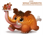 Daily Paint 2193. Woolly Hammoth