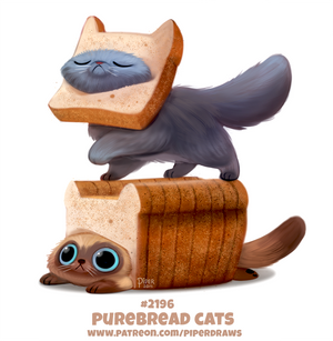Daily Paint 2196. Purebread Cats