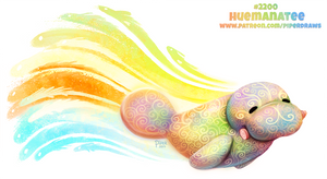 Daily Paint 2200. Huemanatee by Cryptid-Creations
