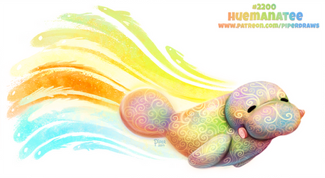 Daily Paint 2200. Huemanatee