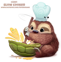 Daily Paint 2201. Slow Cooker