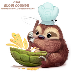 Daily Paint 2201. Slow Cooker by Cryptid-Creations
