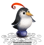 Daily Paint 2202. Fountain Penguin