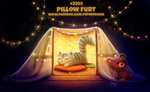 Daily Paint 2205. Pillow Furt