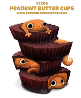 Daily Paint 2206. Peanewt Butter Cups by Cryptid-Creations