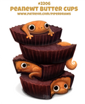 Daily Paint 2206. Peanewt Butter Cups
