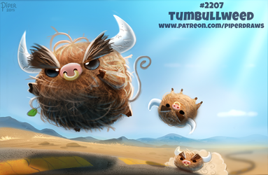 Daily Paint 2207. Tumbullweed by Cryptid-Creations