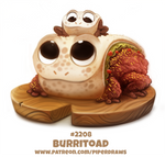 Daily Paint 2208. Burritoad