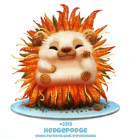 Daily Paint 2212. Hedgepodge by Cryptid-Creations