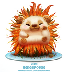 Daily Paint 2212. Hedgepodge