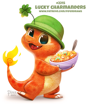 Daily Paint 2215. Lucky Charmanders