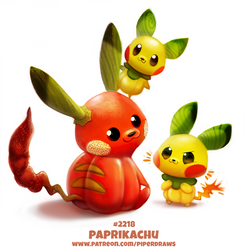 Daily Paint 2218. Paprikachu by Cryptid-Creations