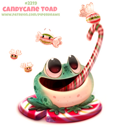 Daily Paint 2219. Candycane Toad by Cryptid-Creations