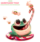 Daily Paint 2219. Candycane Toad