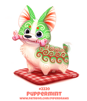 Daily Paint 2220. Puppermint by Cryptid-Creations