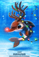 Daily Paint 2221. Rudolphin by Cryptid-Creations