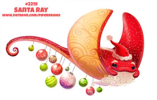 Daily Paint 2222. Santa Ray