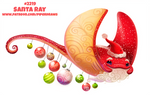 Daily Paint 2222. Santa Ray
