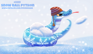 Daily Paint 2223. Snow Ball Python
