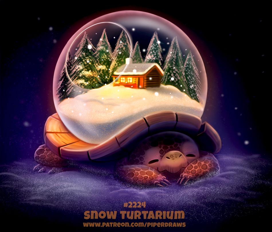 Daily Paint 2224. Snow Turtarium by Cryptid-Creations