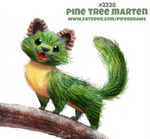 Daily Paint 2228. Pine Tree Marten