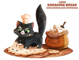 Daily Paint 2229. Kneading Bread by Cryptid-Creations