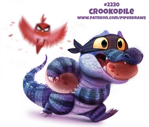 Daily Paint 2230. Crookodile by Cryptid-Creations