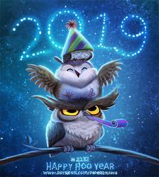 Daily Paint 2232. Happy Hoo Year