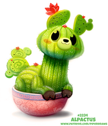 Daily Paint 2234. Alpactus by Cryptid-Creations