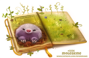 Daily Paint 2236. Moleskine by Cryptid-Creations