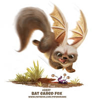 Daily Paint 2237. Bat Eared Fox by Cryptid-Creations